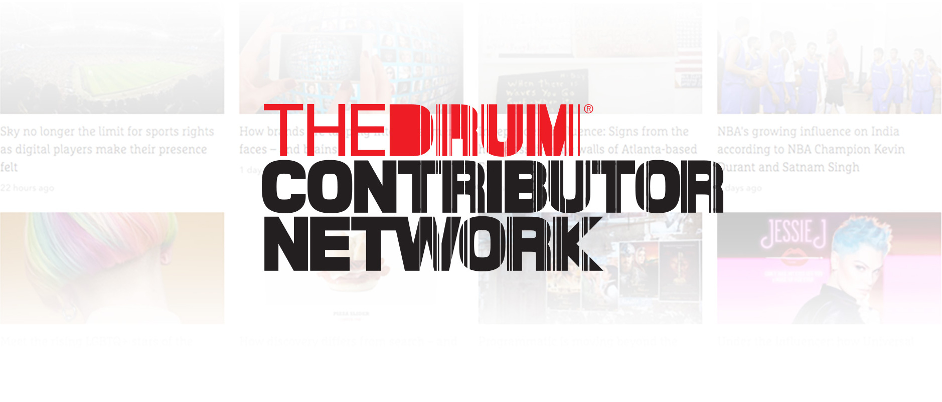 The Drum Contributors banner